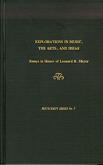Explorations in Music  the Arts  and Ideas