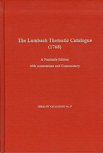 The Lambach Thematic Catalog (1768)