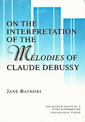 On The Interpretation Of The Melodies Of Claude Debussy